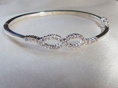 Vintage Pave Eternity Hinged Bangle Bracelet by InVogueJewelry, $79.00