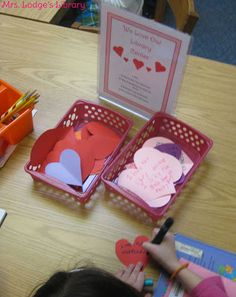 Valentine's Day library center