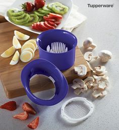 New! Slice 'N Wedge. Perfect little tool for perfect little slices. Two different wire inserts cut fruit, veggies and hardboiled eggs, into slices or wedges.