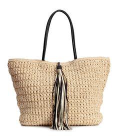 Bag in braided paper straw.   H M Accessories Straw Bag, Women Accessories,  H m 3b0604c4c1