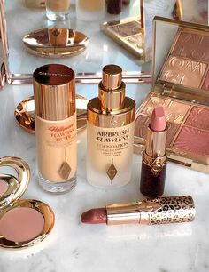 Two highly anticipated complexion products from Charlotte Tilbury, the Airbrush Flawless Foundation & Vanish Colour Correctors are now available at Nordstrom & Sephora. The new Airbrush Flawless Foundation was many months in the making and… Makeup Artist Tattoo, Makeup Artist Quotes, Makeup Artist Kit, Makeup Kit, Pink Makeup, Blue Eye Makeup, Dramatic Makeup, Black Makeup, Gold Makeup