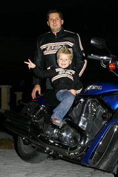 Father and son on H-D.