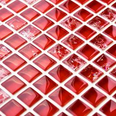 Red Sparkle Mosaics | Red Mosaic Tiles | Mosaic Village