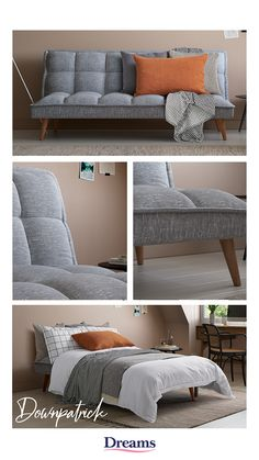 With contemporary piping detail and tapered wooden legs, the Downpatrick creates a space friendly sofa bed that can be easily and quickly transformed into a spacious sleeping solution for your friends and family. Diy Sofa, Luxury Sofa, Luxury Bedding, Sofa Design, Room Interior, Interior Design Living Room, Office Sofa, Bedding Master Bedroom, Sofa Frame
