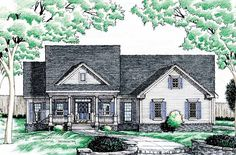 Country House Plan with 2242 Square Feet and 2 Bedrooms from Dream Home Source | House Plan Code DHSW22562