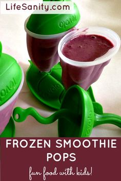 Frozen Not-so Green Smoothie Pops! | Life Sanity