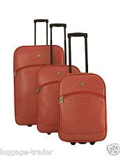 Airline Lightweight Large Medium Cabin Luggage Set of 3 Oilcloth Travel Suitcase