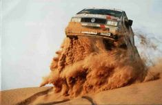 Classic Dakar-style Vanagon shot | Pinning this because it looks cool. Don't get any ideas now--I want my dad to be well and alive :)