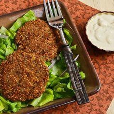 Kalyn's Kitchen®: Recipe for Ground Turkey and Quinoa Patties with Mint, Cumin, and Yogurt-Tahini Sauce
