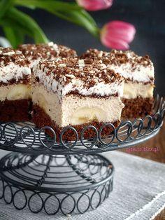 "Ciasto ""Coffee-banana"" – Zjem to! Sweet Recipes, Cake Recipes, Kolaci I Torte, Romanian Food, Sweets Cake, Polish Recipes, Food Cakes, Sweet And Salty, I Love Food"