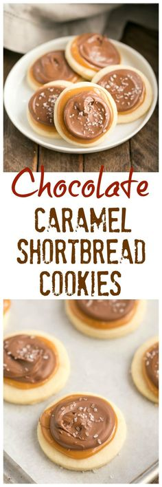 Chocolate Caramel Shortbread Cookies   All the flavors of a Twix bar in one delectable cookie!