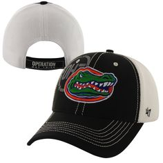 Buy Brand Florida Gators Mikita Operation Hat Trick Adjustable Hat -  Black White from the Official Store of the University of Florida Gators. f998b388cd0c