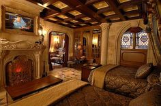 Cinderella Castle Suite-what an amazing room.  so classy.