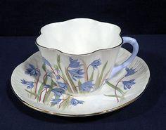 Shelley-Fine-English-Bone-China-Tea-Cup-and-Saucer-Set-Dainty-Scilla-Blue-Handle