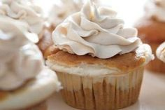 Cheesecake-Filled Pumpkin Cupcakes! http://www.yummly.com/recipe/Cheesecake-Filled-Pumpkin-Cupcakes-Food_com-131802