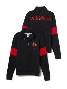 University of Louisville Bling Half-Zip Pullover - PINK - Victoria's Secret