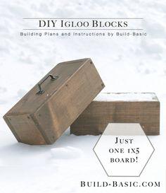 DIY Igloo Blocks