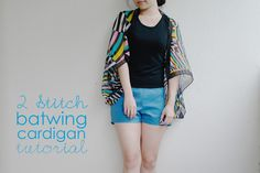 Ching Makes Things!: Tutorial: 2 stitch batwing cardigan!