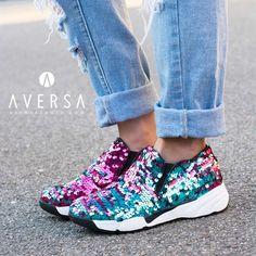 Uma Parker Sneakers Paillettes Rose