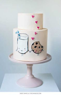 Adorable milk and cookies cake | 10 Delightfully Delicious Cakes - Tinyme Blog