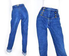 Vintage 80s 90s High Waisted Womens Jeans - Size 6 Long - Rockies Western Wear Tall Curvy Straight Leg Urban Cowgirl Denim - 27 Waist