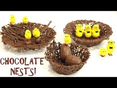 how to make the EASIEST CHOCOLATE NESTS!   Its A Piece Of Cake - YouTube