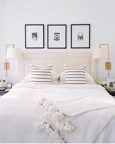 White bedding!