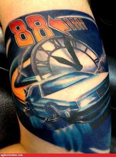 """Back to the Future"" tattoo"
