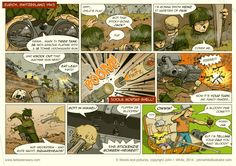 Episode 1 of 'Between * Wars' comic. It's all out - total war - in Switzerland in Eh? Tiger Tank, War Comics, Total War, Tonne, Popular Culture, Switzerland, Illustrator, Cover, Illustrators
