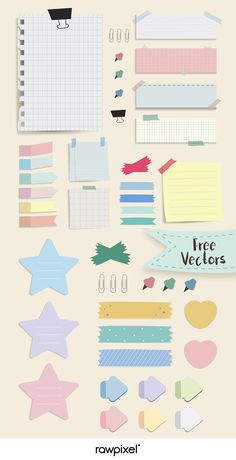 Download free pastel office stationery mockup vectors at rawpixel.com Cute Notes, Good Notes, Journal Stickers, Planner Stickers, Memo Notepad, Note Doodles, Notes Design, Notebook Paper, Bullet Journal Ideas Pages