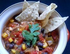 Slow Cooker Chicken Tortilla Soup by Sugar Dish Me