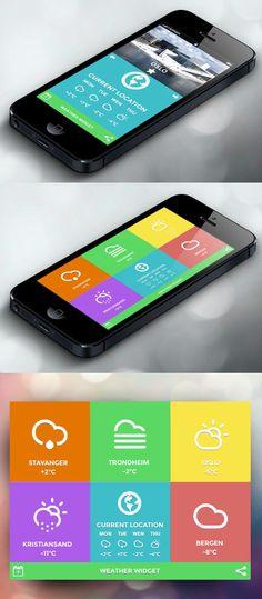 Weather-App-UI-UX-Design-Concept.jpg (500×1143) #flatdesign #UI #UX