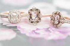 Diamond engagement ring  Morganite oval cut  Rose gold  Marion Rehwinkel Jewellery