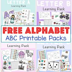 These no prep alphabet worksheets are great alphabet letter practice for preschoolers. The letter worksheets include traceable letters, alphabet coloring and more to help reinforce letter recognition in preschoolers.