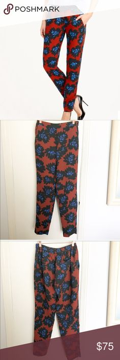 """{J.Crew} firework pants What can we say? We love a good floral. This one is inspired by a vintage print, and we're so excited about it that it's popping up everywhere—including here. These drapey slim pants are a quick and easy (and stylish) solution to a big night out.  Poly. Partial elastic waist. Slant pockets. Machine wash. Sits at hip. Slim through hip and thigh, with a slim, straight leg. 29"""" inseam. Excellent condition no flaws to note please see all pictures for accuracy of the…"""