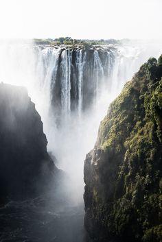 Victoria Falls, on the Zambian side.