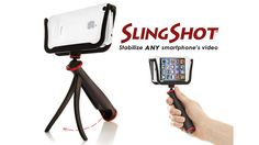 The SlingShot SmartPhone Camera Cradle -- this is the best way to put a tripod mount on your iphone, if you use your phone as your primary camera (I do). It even works when the phone is in a case/Mophie!