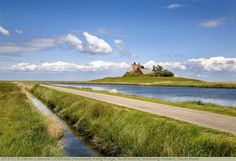 Kirchwarft, Hallig Hooge, Nordfriesland, Schleswig-Holstein, Deutschland