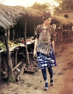Outré Africa Styling+by+Damian+Foxe.+Shot+at+Norman+Carr+Safaris'+Luangwa+camps,+Zambia.
