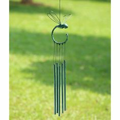 dragonfly Wind Chimes   Stylized Dragonfly Wind Chime with Tubes Hanging on its Tail by SPI ...