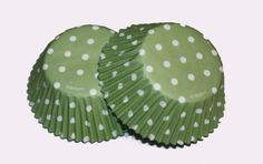 24 Wilton Sage Green Polka Dot Cupcake Liners Cupcake Papers Baking Cups Girl Boy Birthday Party Supplies Baby Shower Bridal Shower