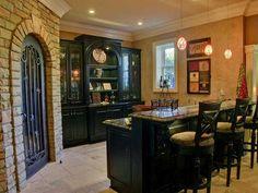 basement bar and wine cellar