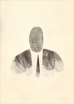 Saul Steinberg · Self Portrait | Ink and Fingerprint · 1955