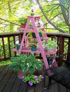 7 Passionate Clever Tips: Small Backyard Garden Space Saving backyard garden boxes fence. Small Backyard Gardens, Vertical Gardens, Outdoor Gardens, Balcony Gardening, Garden Spaces, Gardening Tips, Garden Crafts, Garden Art, Planter Garden