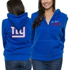 4fd48932c645 New York Giants Ladies Game Day Full Zip Hoodie - Royal Blue Ny Giants Game