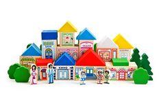 Конструктор «Веселый городок» / «Томик» — экологически чистые деревянные игрушки