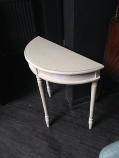 Painted wooden demi-lune table from #FurnishN20