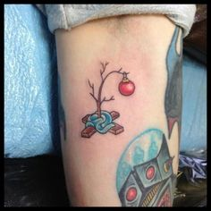 These unique brown ink tattoo designs help twist your common black body art into something wholly new and multi-dimensional. Future Tattoos, Love Tattoos, Beautiful Tattoos, New Tattoos, Tatoos, Charlie Brown Tree, Charlie Brown Christmas Tree, Peanuts Christmas, Brown Tattoo Ink