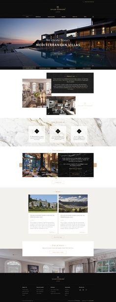 jpg by Kevin Astr Hotel Website Design, Travel Website Design, Luxury Website, Website Design Layout, Web Layout, Layout Design, Website Designs, Website Ideas, Interface Design