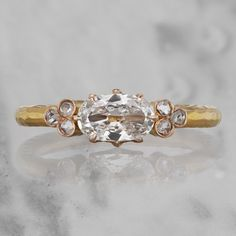 The Monique ring is an absolutely gorgeous Horizontal Oval Diamond Engagement Ring. Shop this exclusive ring now at Victor Barbone Jewelry! Square Engagement Rings, Cushion Cut Engagement Ring, Perfect Engagement Ring, Engagement Ring Styles, Antique Engagement Rings, Cushion Cut Diamond Ring, Oval Diamond, Diamond Cuts